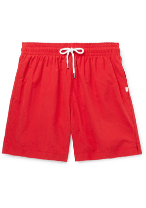 Derek Rose - Aruba Slim-fit Mid-length Swim Shorts - Red