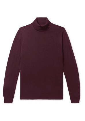 Dunhill - Merino Wool Rollneck Sweater - Burgundy