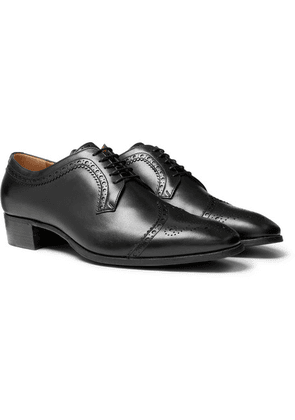 Gucci - Leather Brogues - Black