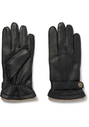 Dents - Gloucester Cashmere-lined Leather Gloves - Black