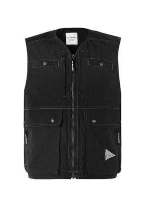 And Wander - Cropped Nylon Gilet - Black