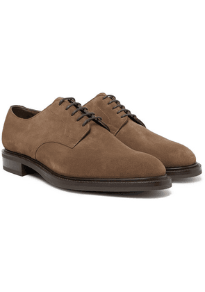 Edward Green - Windermere Suede Derby Shoes - Taupe