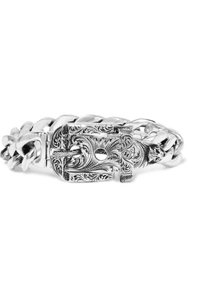 Gucci - Sterling Silver Buckled Chain Bracelet - Silver