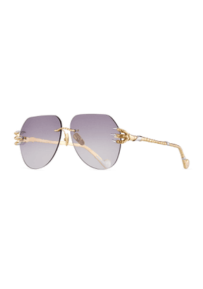 The Claw & The Nest Rimless Pilot Sunglasses