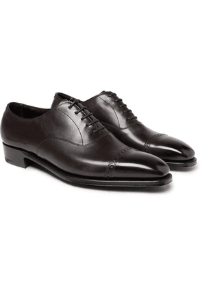 George Cleverley - Nakagawa Cap-toe Leather Oxford Shoes - Brown