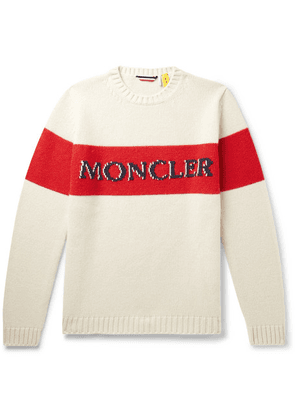 Moncler Genius - 2 Moncler 1952 Logo-embroidered Colour-block Wool Sweater - Neutral