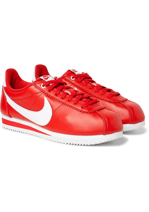 Nike - + Stranger Things Cortez Qs Full-grain Leather Sneakers - Red