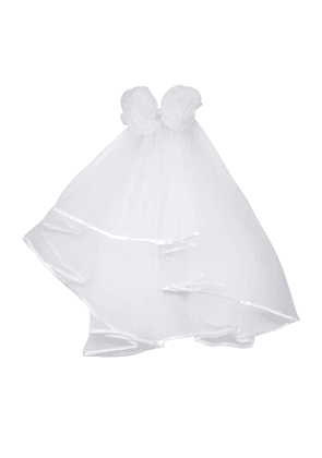 Sheer Veil w/ Pearls on Bow