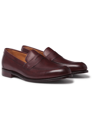Cheaney - Hadley Burnished-leather Penny Loafers - Burgundy
