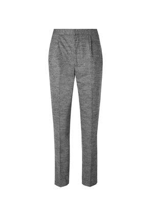 Camoshita - Light-grey Slim-fit Pleated Puppytooth Wool-blend Suit Trousers - Gray