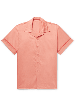 Cleverly Laundry - Piped Garment-dyed Washed-cotton Pyjama Shirt - Pink