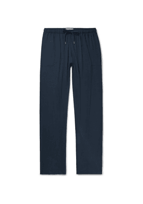 Derek Rose - Basel Stretch-micro Modal Jersey Drawstring Trousers - Navy
