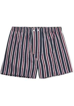 Derek Rose - Royal Striped Cotton Boxer Shorts - Navy