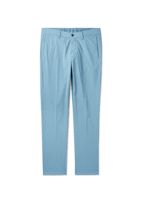 Dunhill - Slim-fit Cotton-blend Poplin Chinos - Blue