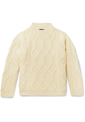 Drake's - Cable-knit Wool Sweater - Neutral