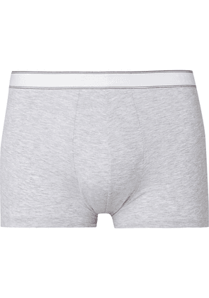 Derek Rose - Ethan Mélange Stretch-cotton Boxer Briefs - Gray