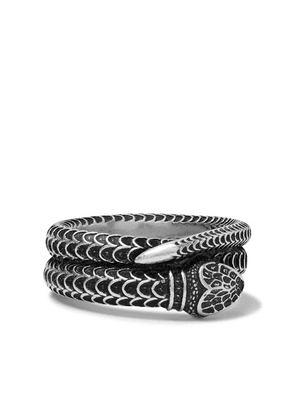 Gucci - Snake Burnished Sterling Silver Ring - Silver