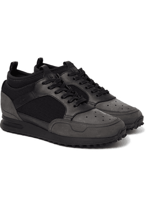 Dunhill - Radial Runner Neoprene And Leather-trimmed Suede And Mesh Sneakers - Black