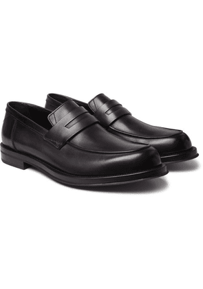 Berluti - Leather Penny Loafers - Black