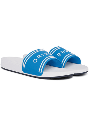 Orlebar Brown - Haddon Logo-embossed Canvas And Rubber Slides - Blue