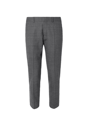 AMI - Grey Slim-fit Tapered Cropped Tweed Suit Trousers - Gray