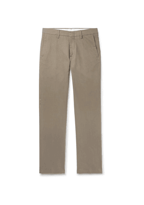 Dunhill - Slim-fit Stretch Cotton And Cashmere-blend Twill Chinos - Neutral