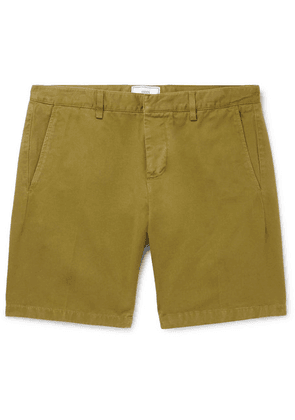 AMI - Slim-fit Cotton-twill Bermuda Shorts - Green