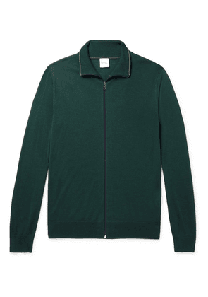 Paul Smith - Merino Wool Zip-up Cardigan - Forest green
