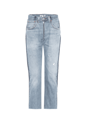 Relaxed Zip Crop jeans