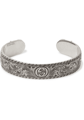 Gucci - Engraved Sterling Silver Cuff - Silver