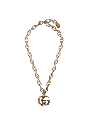 Gucci Gold Crystal Marmont Necklace