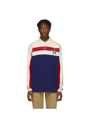 Gucci Blue Starpatch Long Sleeve Polo