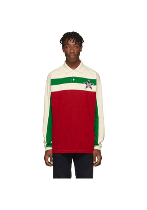 Gucci Off-White Starpatch Long Sleeve Polo