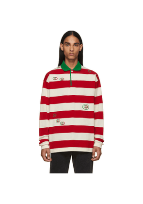 Gucci Red and White GG Stripe Polo