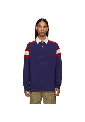 Gucci Blue Tennis Club Polo