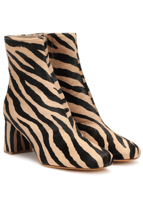 Exclusive to Mytheresa – Agnes calf hair ankle boots