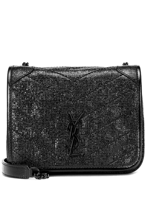 Niki Mini embossed leather shoulder bag