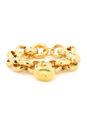 Exclusive to Mytheresa – Gold-plated bracelet with heart charm