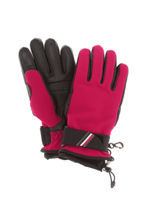 Leather-trimmed gloves