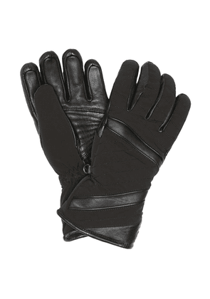 Alek leather-trimmed ski gloves