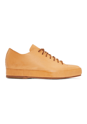 Feit Tan Hand Sewn Low Sneakers