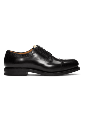 Gucci Black Leather Brogues