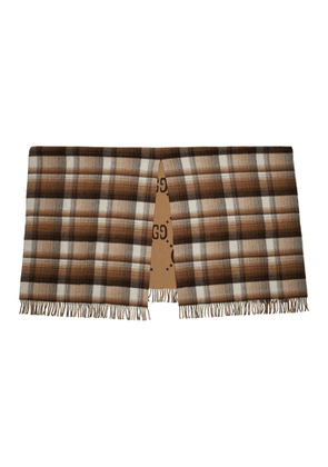 Gucci Brown Check GG Blanket