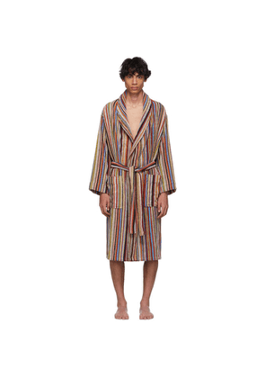 Paul Smith Multicolor Striped Dressing Robe