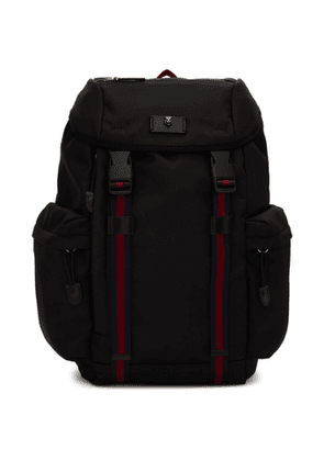 Gucci Black Techno Canvas Backpack