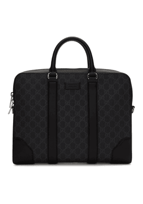 Gucci Black GG Supreme Briefcase