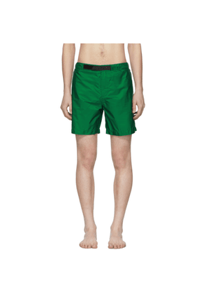 Prada Green Nylon Swim Shorts