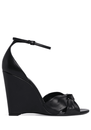105mm Lila Leather Wedges