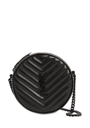 Vinyle Round Quilted Leather Camera Bag