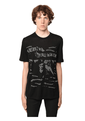 Saint Laurent Printed Cotton T-shirt